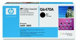 hp colorsphere černý toner, Q6470A