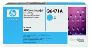 hp colorsphere azurový toner, Q6471A
