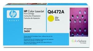 hp colorsphere žlutý toner, Q6472A