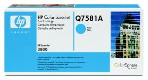 hp colorsphere azurový toner, Q7581A