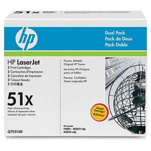 HP laserjet černý toner,Q7551XD - 2 pack