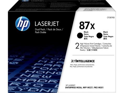 HP 87X černý toner velký - 2 pack, CF287XD