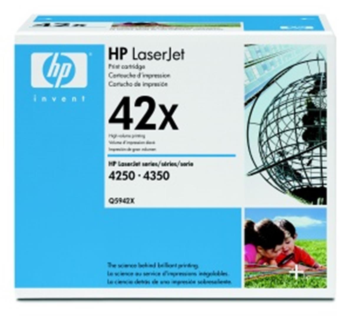 HP tisková kazeta černá velká, Q5942X
