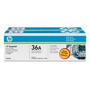 HP tisková kazeta černá, 2-pack CB436AD