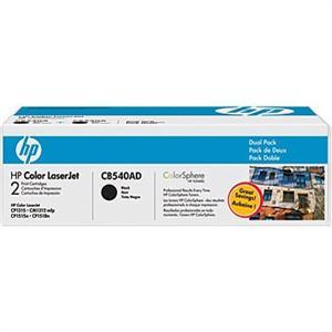 HP tisková kazeta černá - 2 pack,  CB540AD