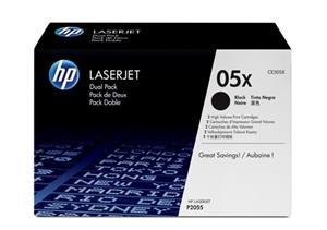 HP tisková kazeta černá velká, CE505XD - 2 pack