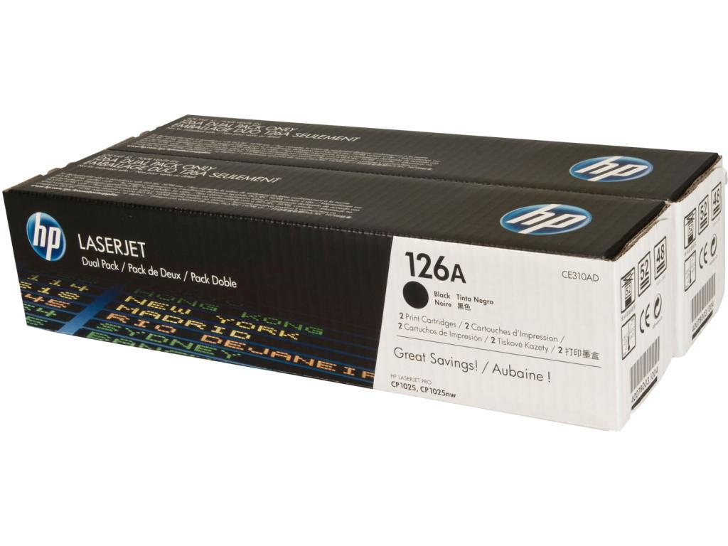 HP tisková kazeta černá, CE310AD - 2 pack