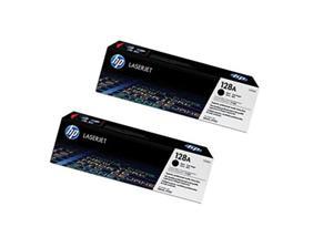 HP tisková kazeta černá - 2 pack, CE320AD