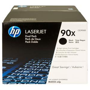 HP tisková kazeta černá velká - 2 pack, CE390XD