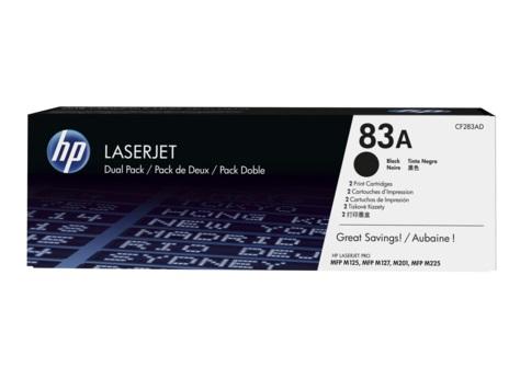 HP tisková kazeta černá, CF283AD - 2 pack