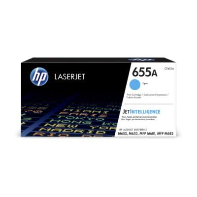 HP 655A azurová LaserJet Cartridge, CF451A