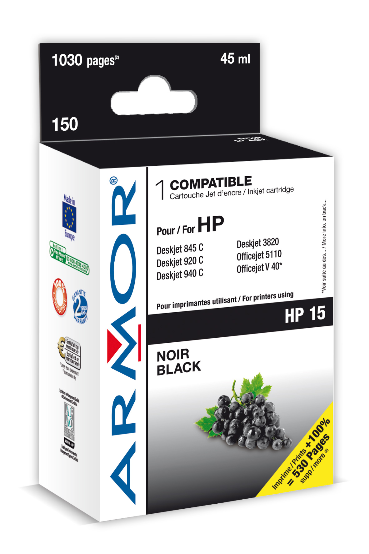 Armor ink-jet pro HP DJ 840, 42ml (C6615D)
