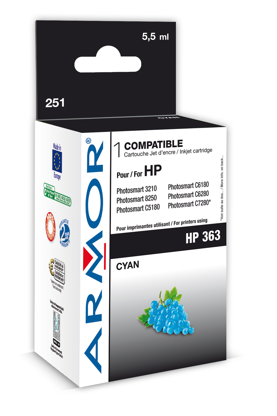 Armor ink-jet pro HP PSC3210 4ml C8771E Cyan
