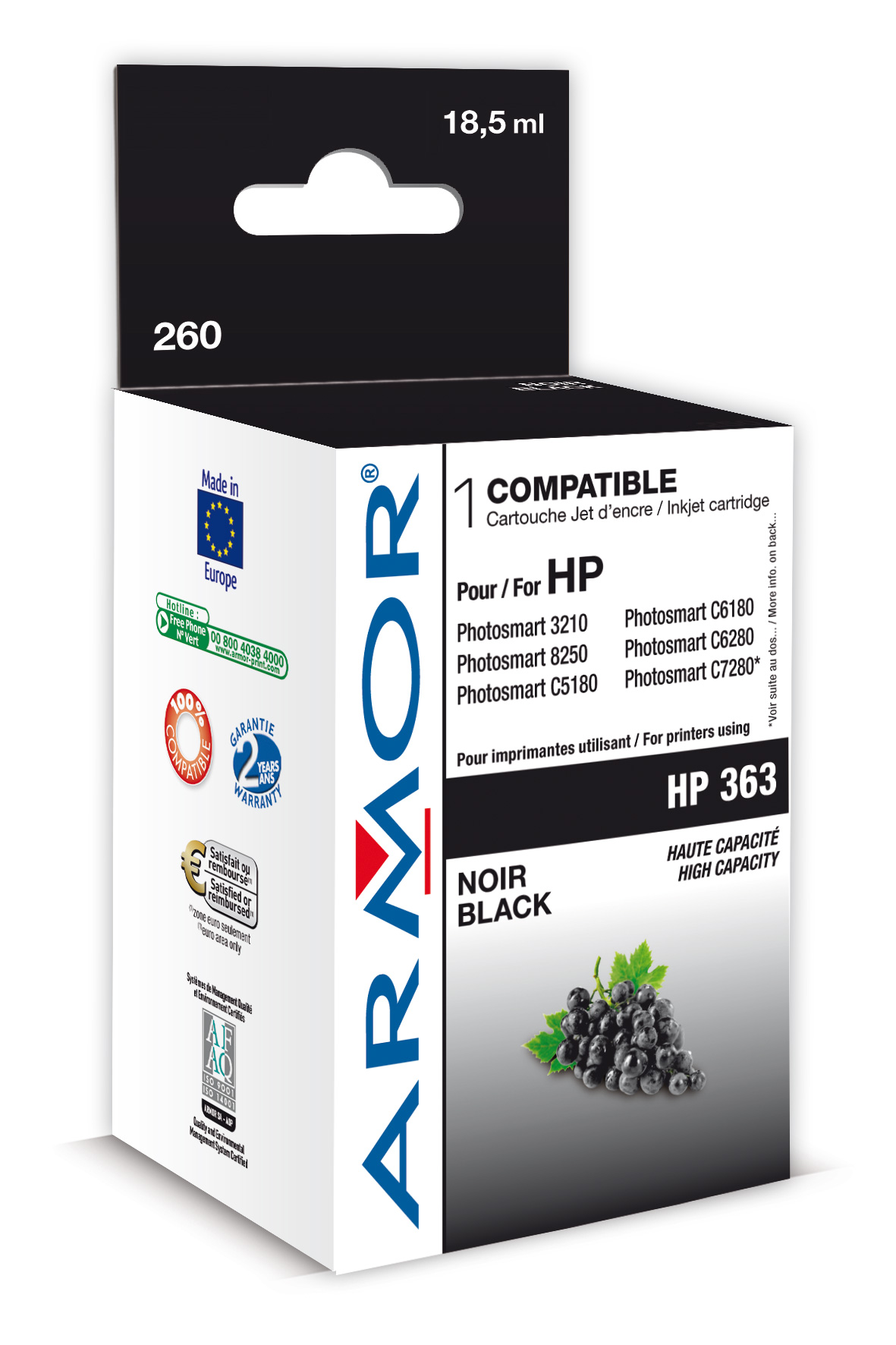 Armor ink-jet pro HP PSC3210 17ml C8719E Bk XL