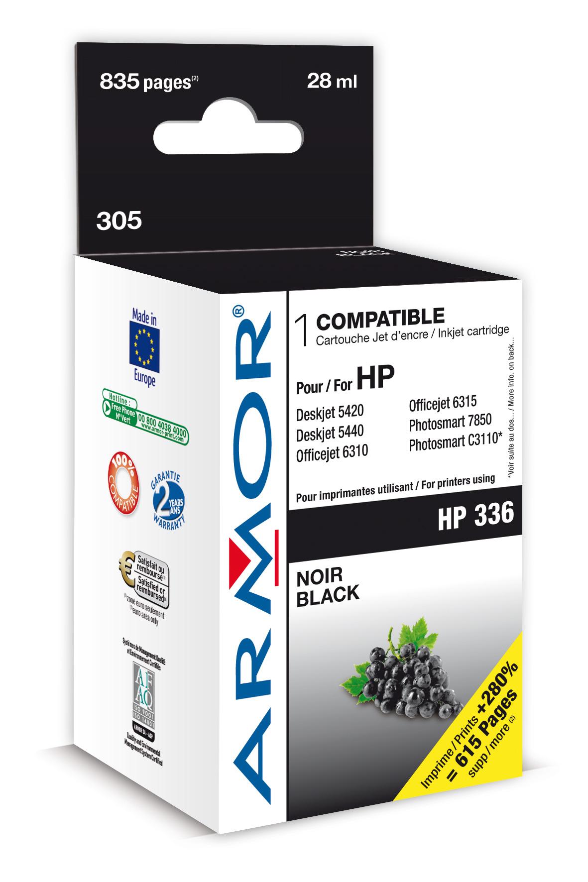 Armor ink-jet pro HP DJ 5440 14ml C9362E Black