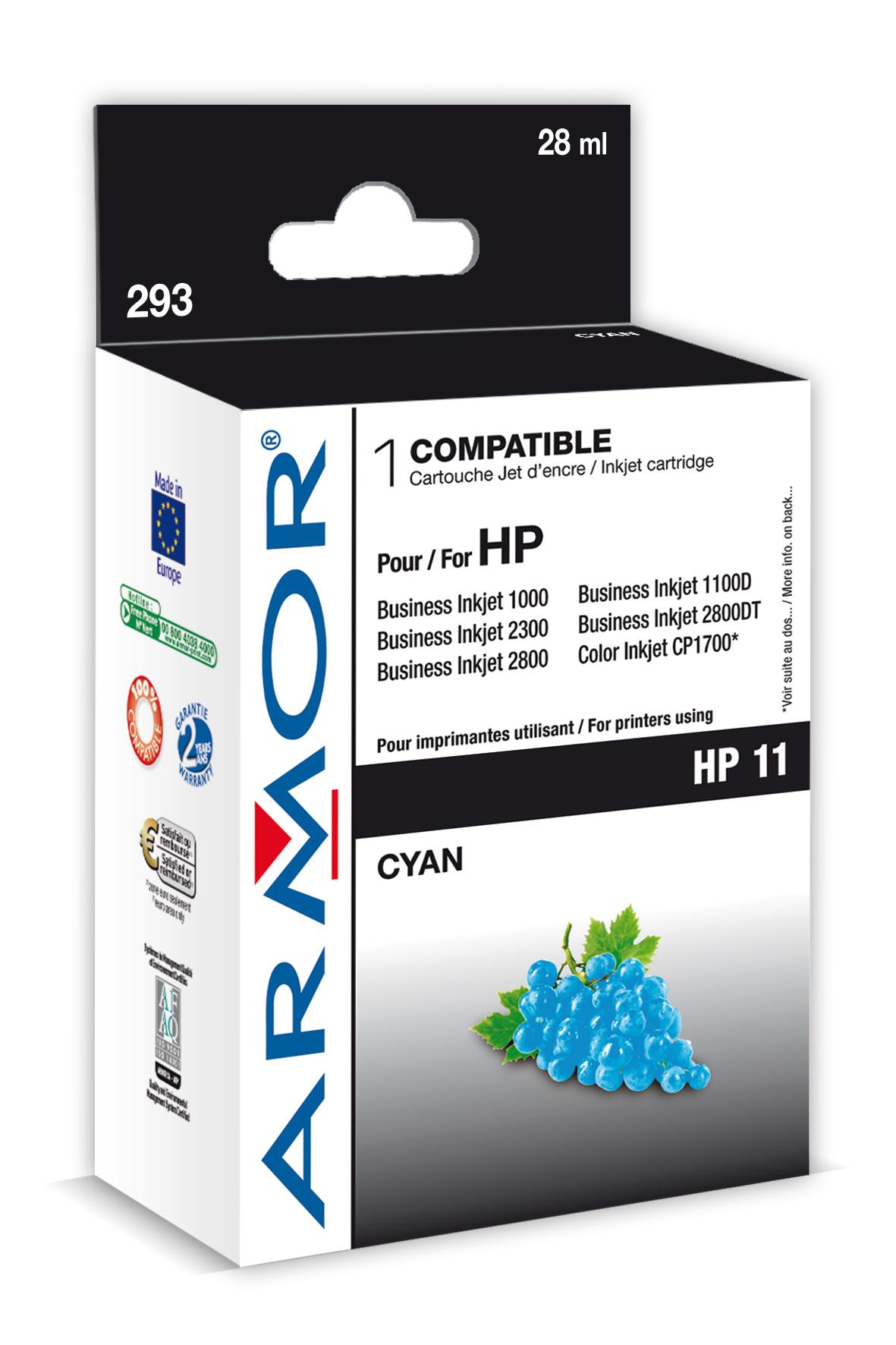 Armor ink-jet pro HP OJ 9110 28ml C4836A Cyan