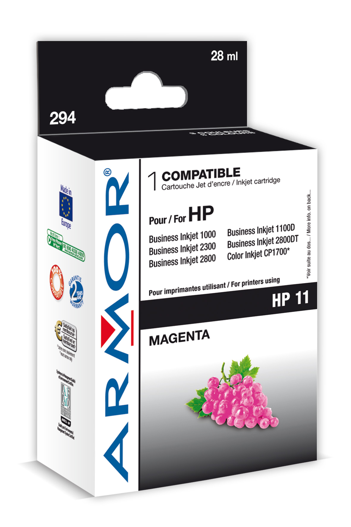 Armor ink-jet pro HP OJ 9110 28ml C4837A Magenta