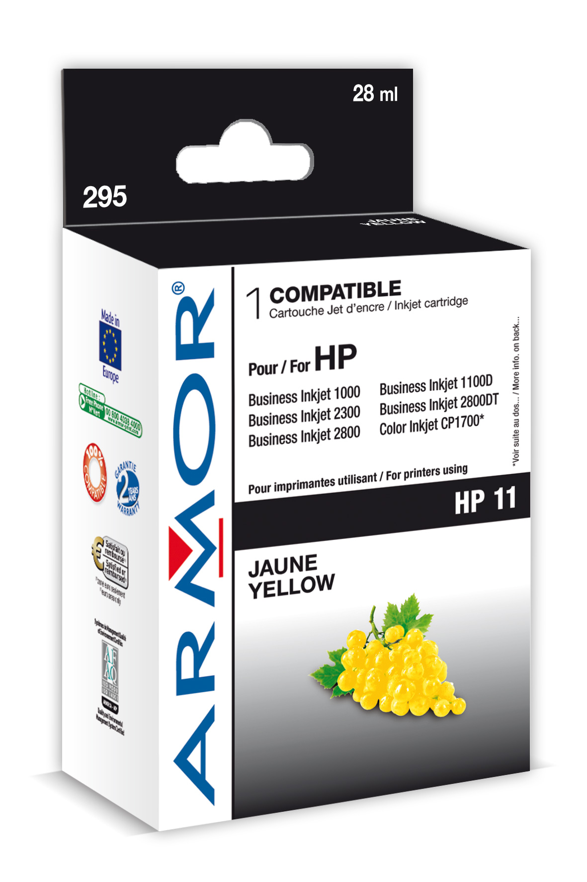 Armor ink-jet pro HP OJ 9110 28ml C4838A Yellow