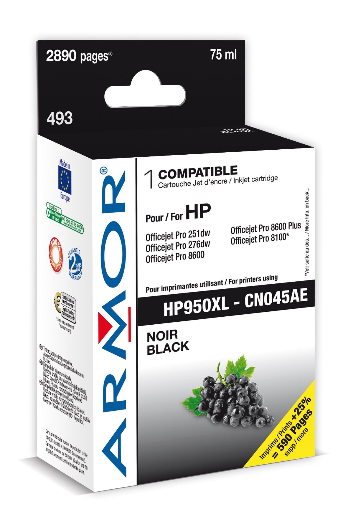 Armor ink-jet pro HP OJ 8100/8600 černá, 75ml