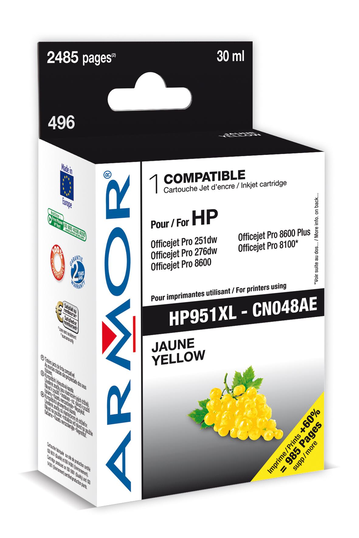 Armor ink-jet pro HP OJ 8100/8600 yellow, 30ml