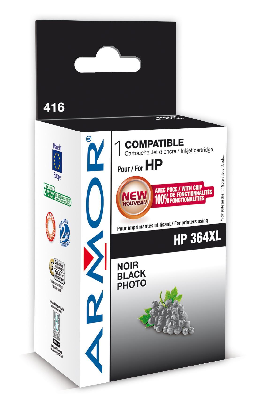 Armor ink-jet pro HP Photosmart B8550,12ml,PhotoBk
