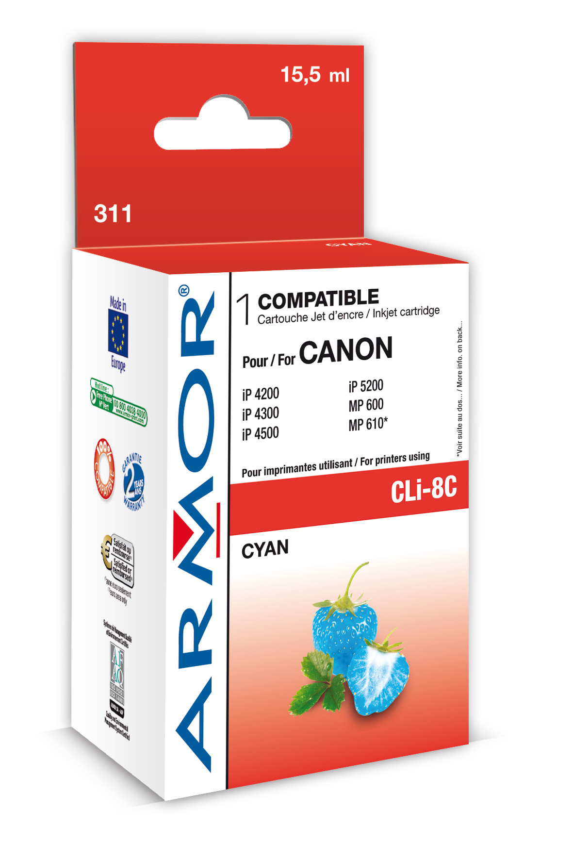 Armor ink-jet pro Canon iP4200, 16ml (CLI8C), čip