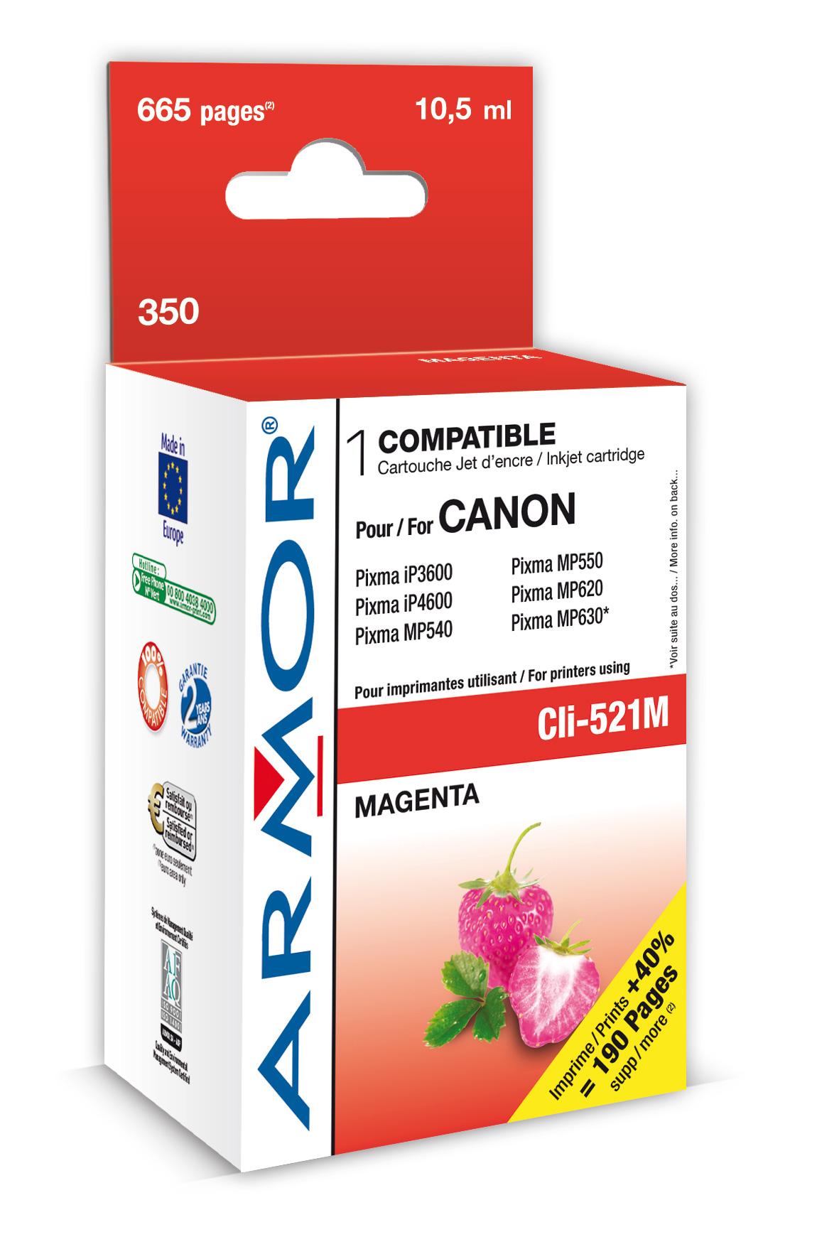 Armor ink-jet pro Canon iP4600, (CLI521-M), čip