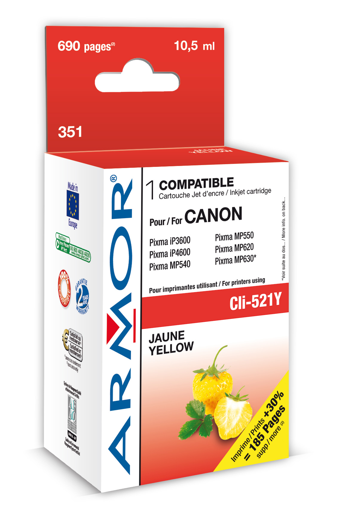 Armor ink-jet pro Canon iP4600, (CLI521-Y), čip