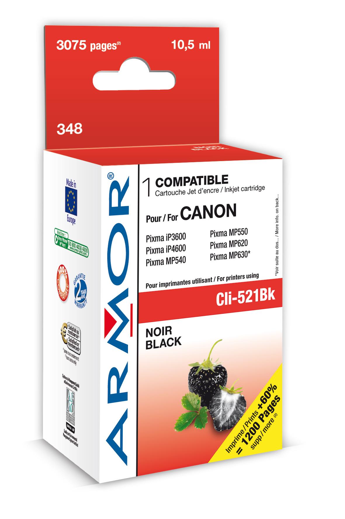 Armor ink-jet pro Canon iP4600, (CLI521-Bk), čip