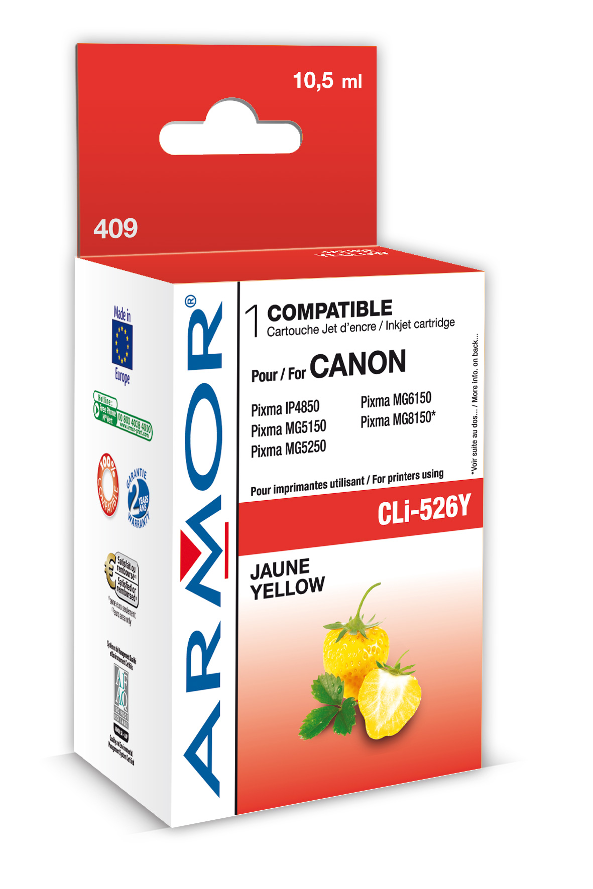 Armor ink-jet pro Canon CLi-526, 10,5ml, yellow