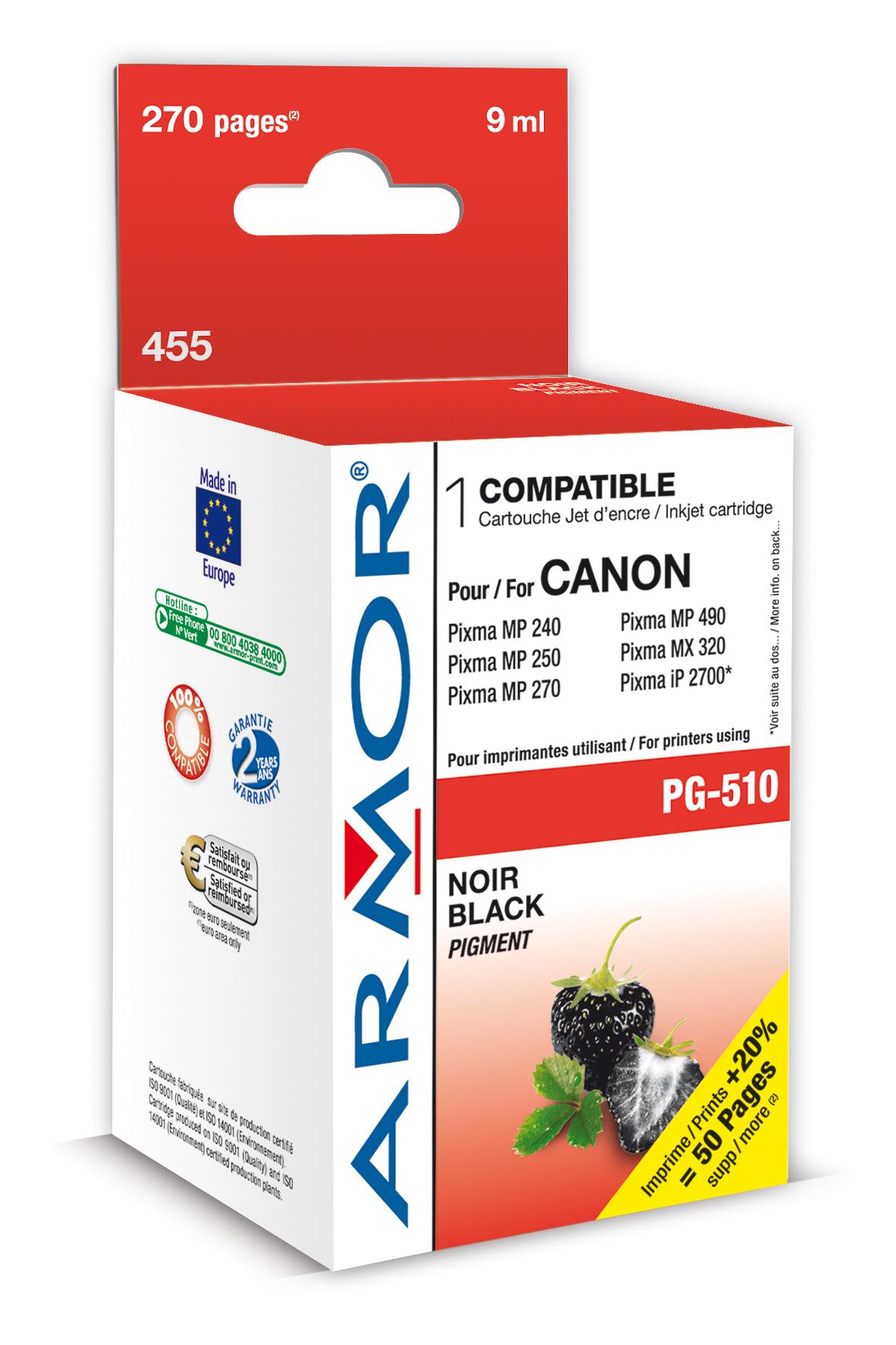Armor ink-jet pro Canon PG510, 9ml, černá