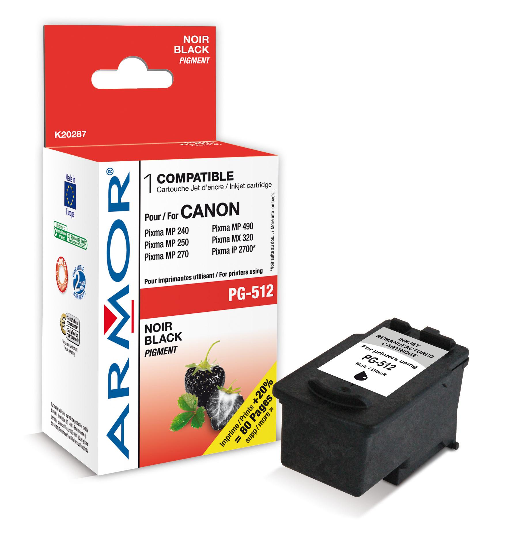 Armor ink-jet pro Canon PG512, 15ml, černá