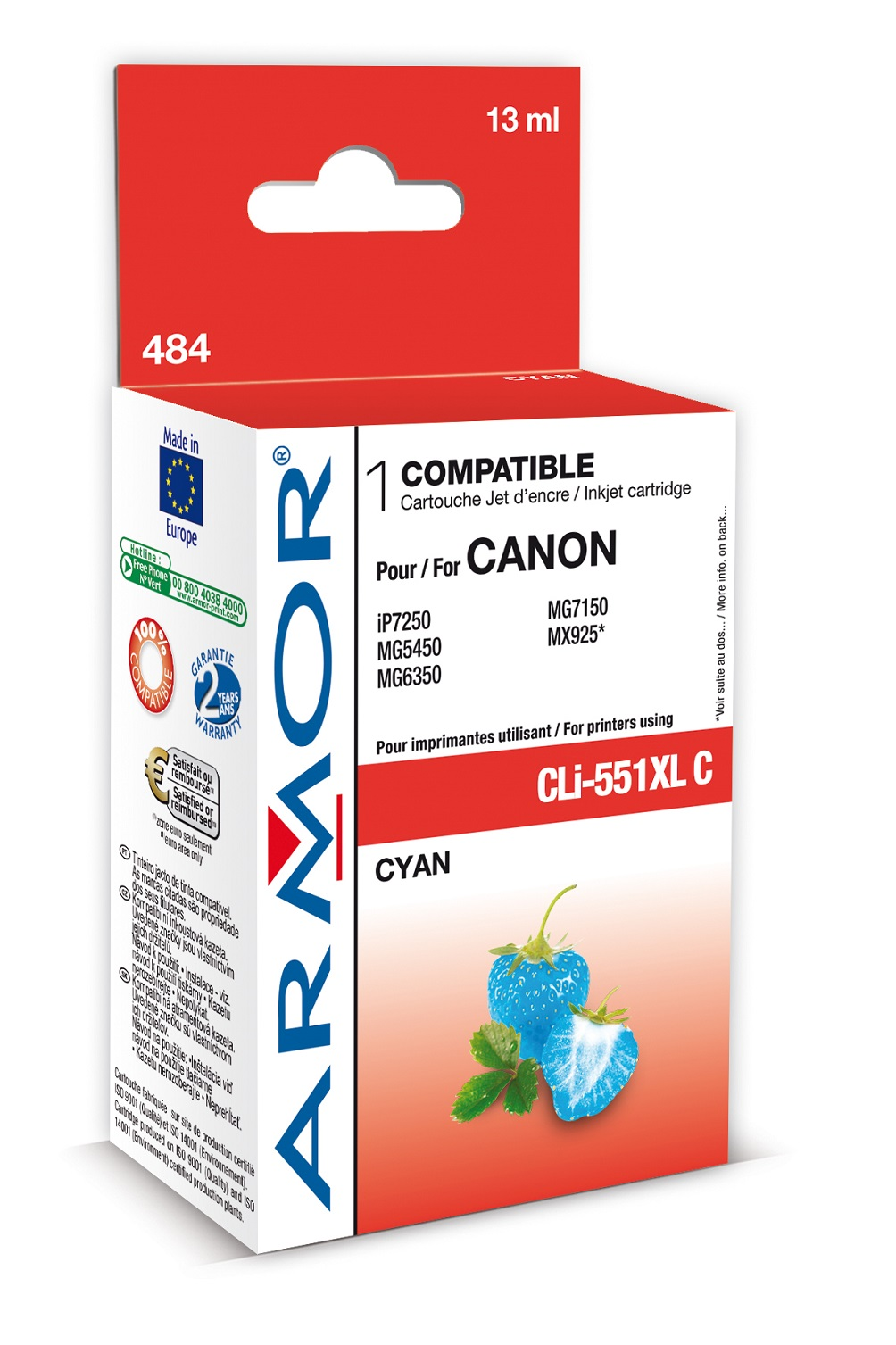 Armor ink-jet pro Canon CLI551CXL, 13 ml, Cyan