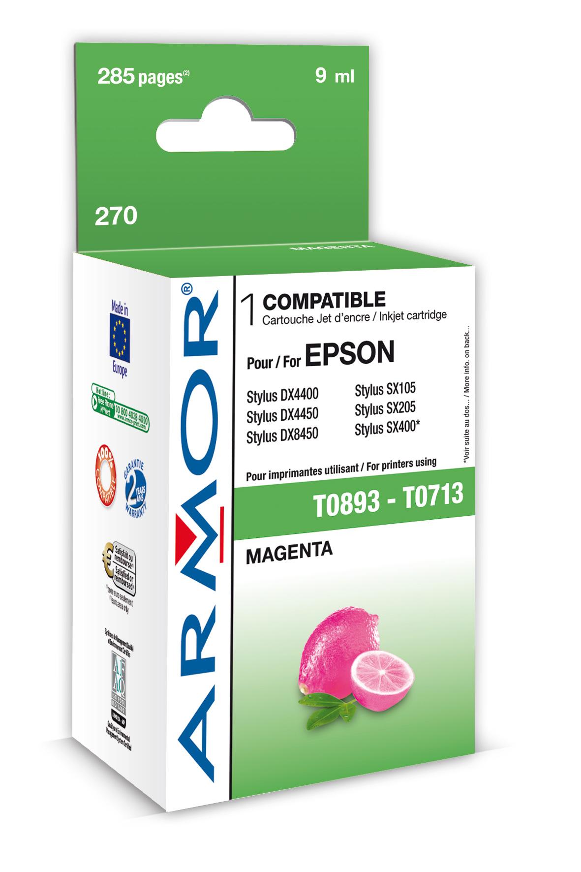 Armor ink-jet pro Epson Stylus D78 (T071340), M