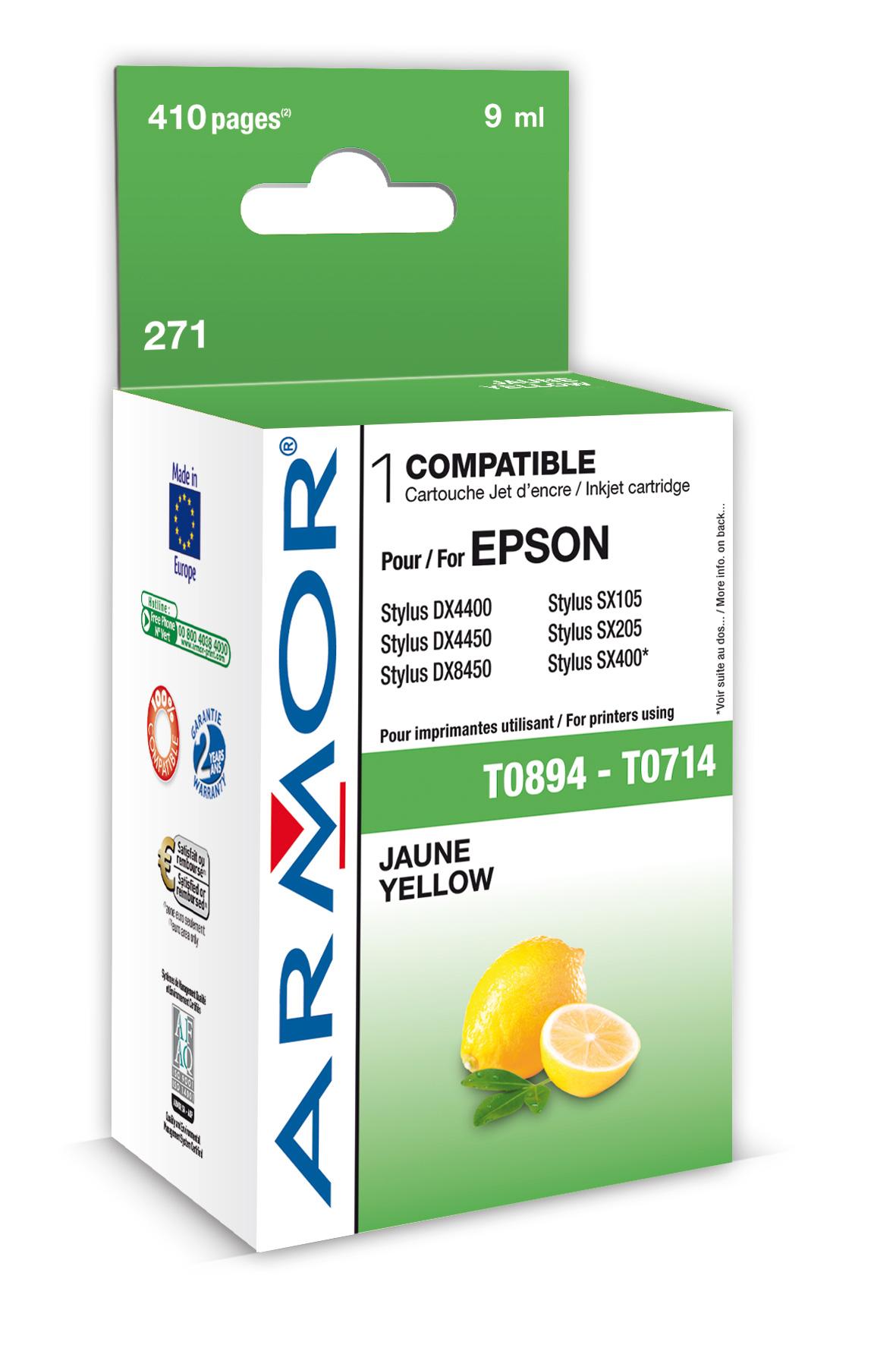 Armor ink-jet pro Epson Stylus D78 (T071440), Y