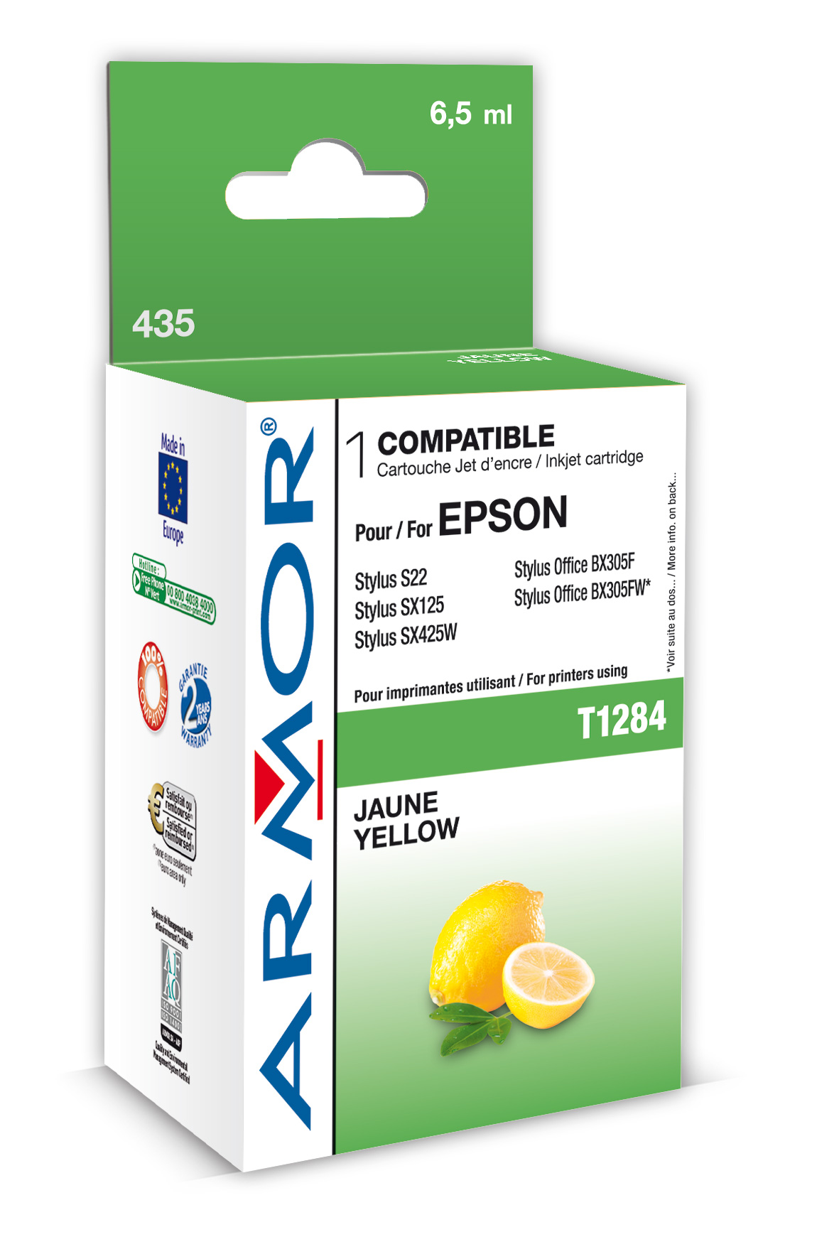 Armor ink-jet pro Epson S22,SX125 T128440 Yellow - obr.1