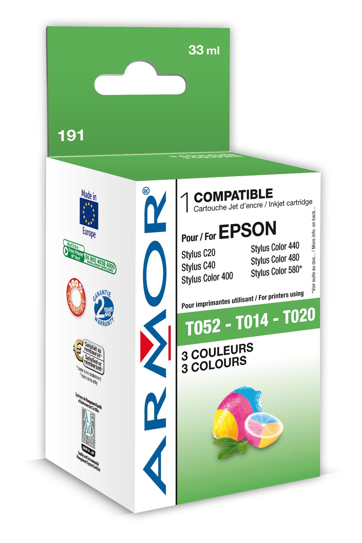 Armor Epson Stylus Color 400 3 barvy, T014/T020