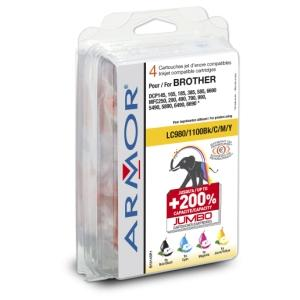 Armor ink-jet pro Brother DCP 145 (LC980/Bk/C/M/Y)