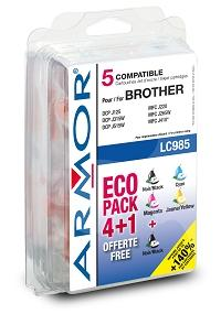 Armor ink-jet Brother 10/6ml(LC985BK/C/M/Y)