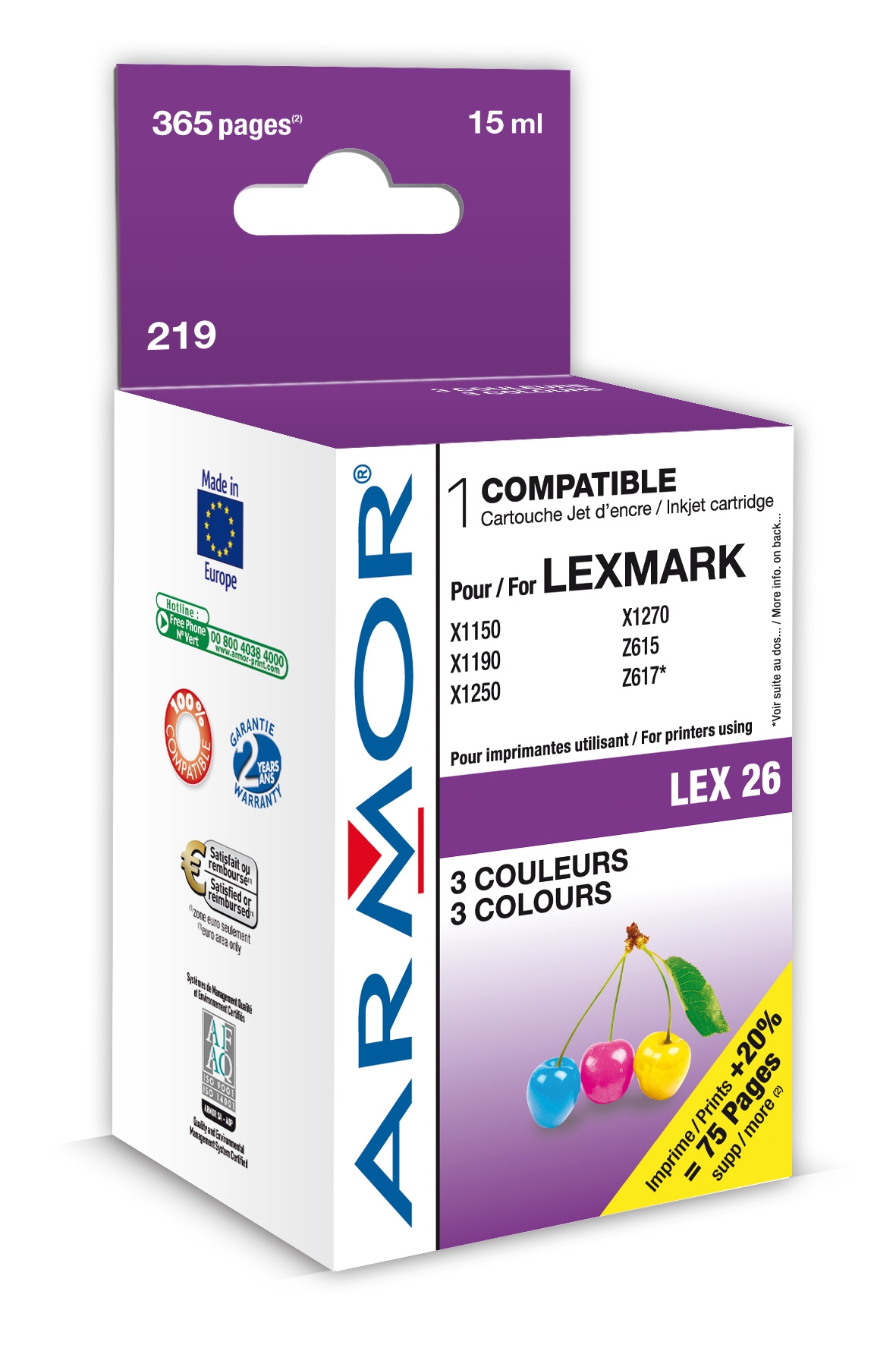 Armor ink-jet Lexmark Z13/Z23/Z25 10N0026 Color