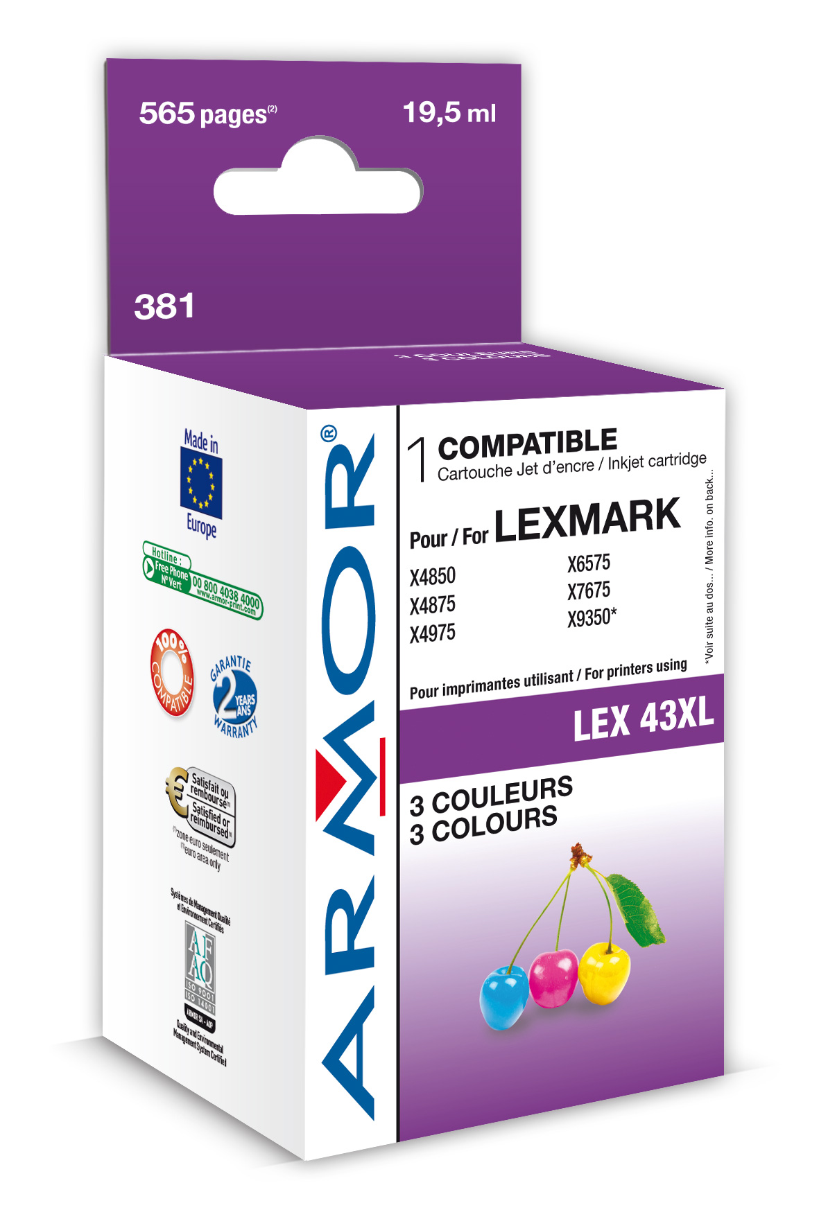 Armor ink-jet Lexmark X4850 color,19.5ml(18X0143E)
