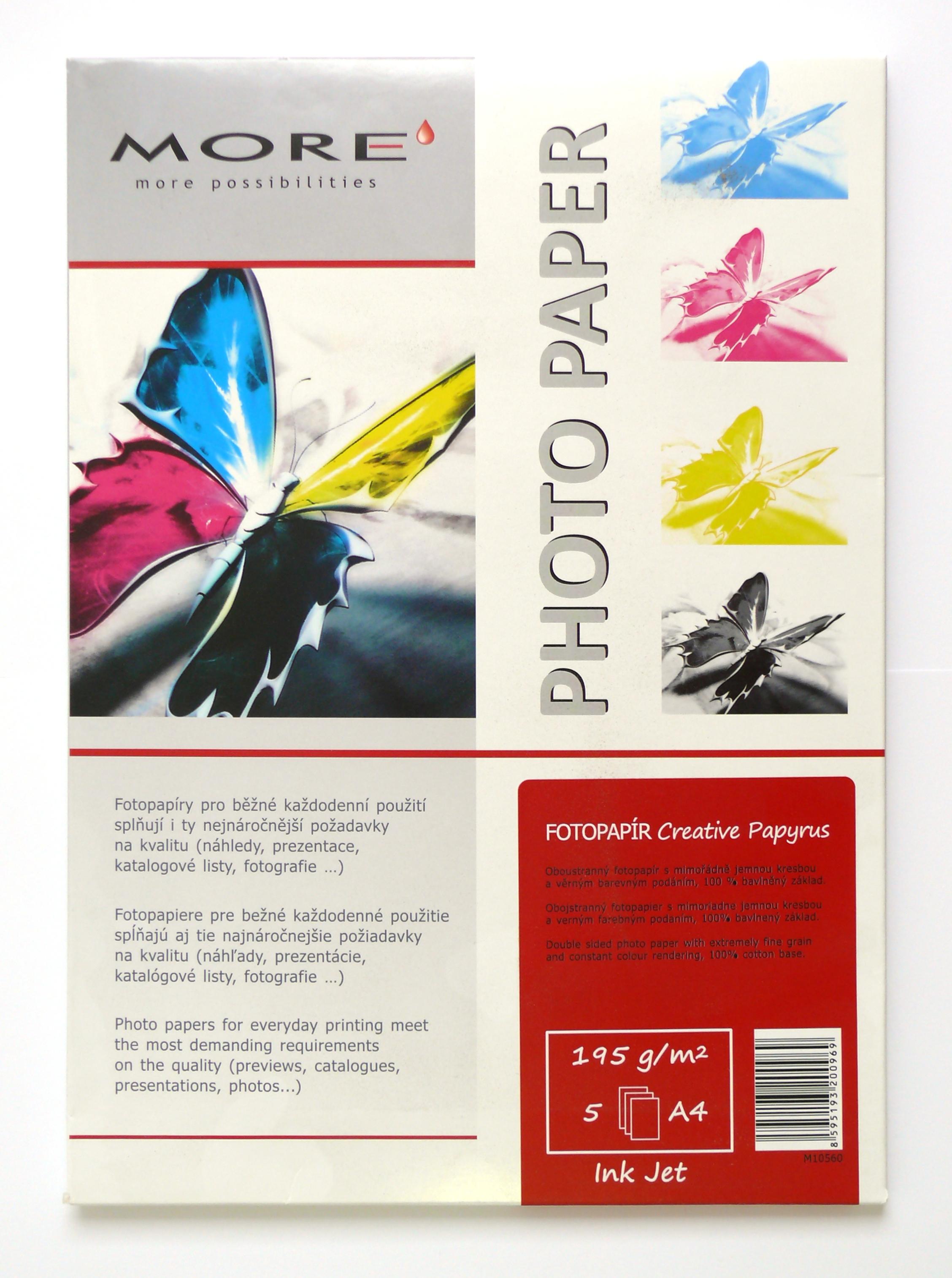 Armor fotopapír Creative Papyrus 195g oboustr 5xA4