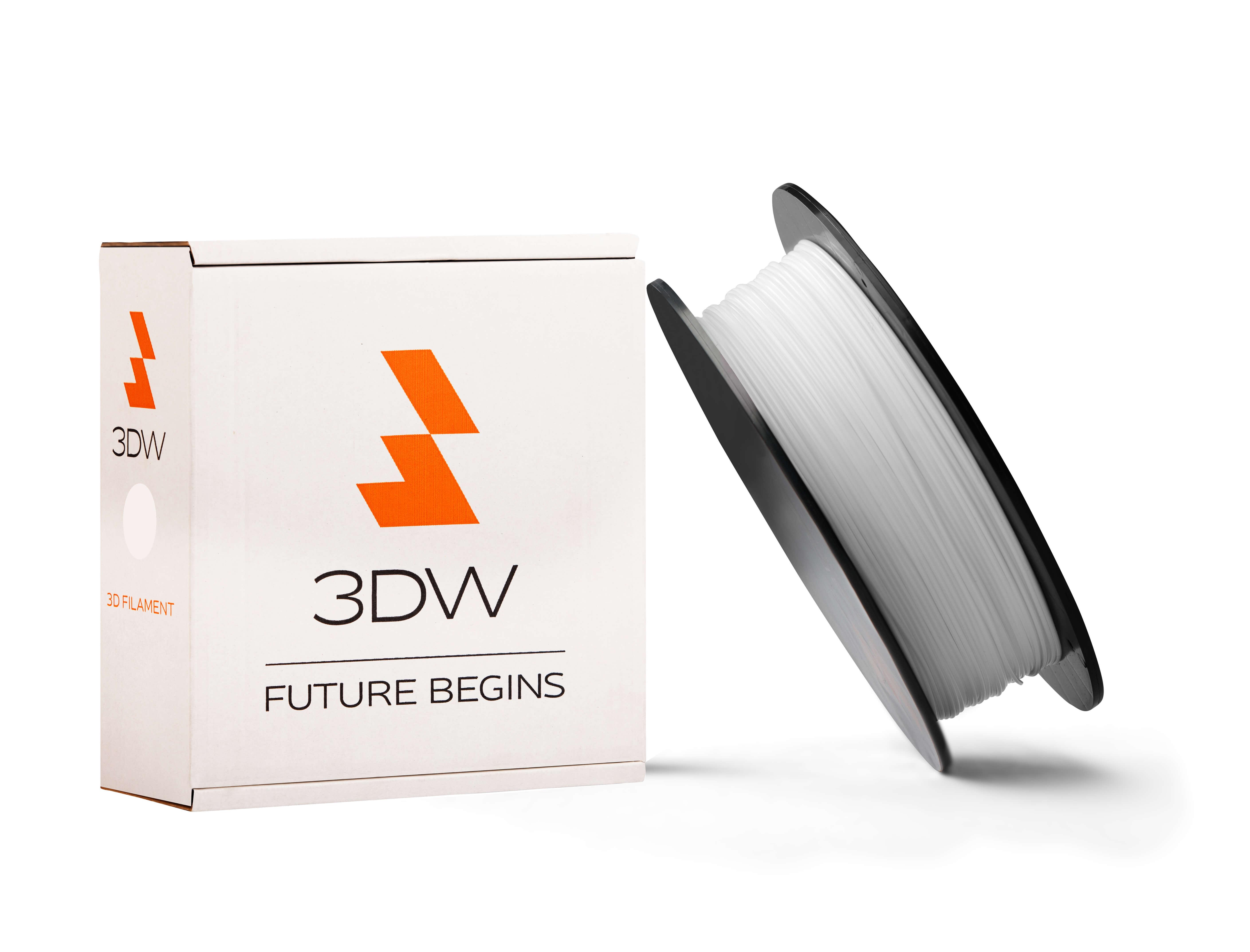 3DW - ABS filament 1,75mm bílá, 0,5 kg, tisk 220-250°C