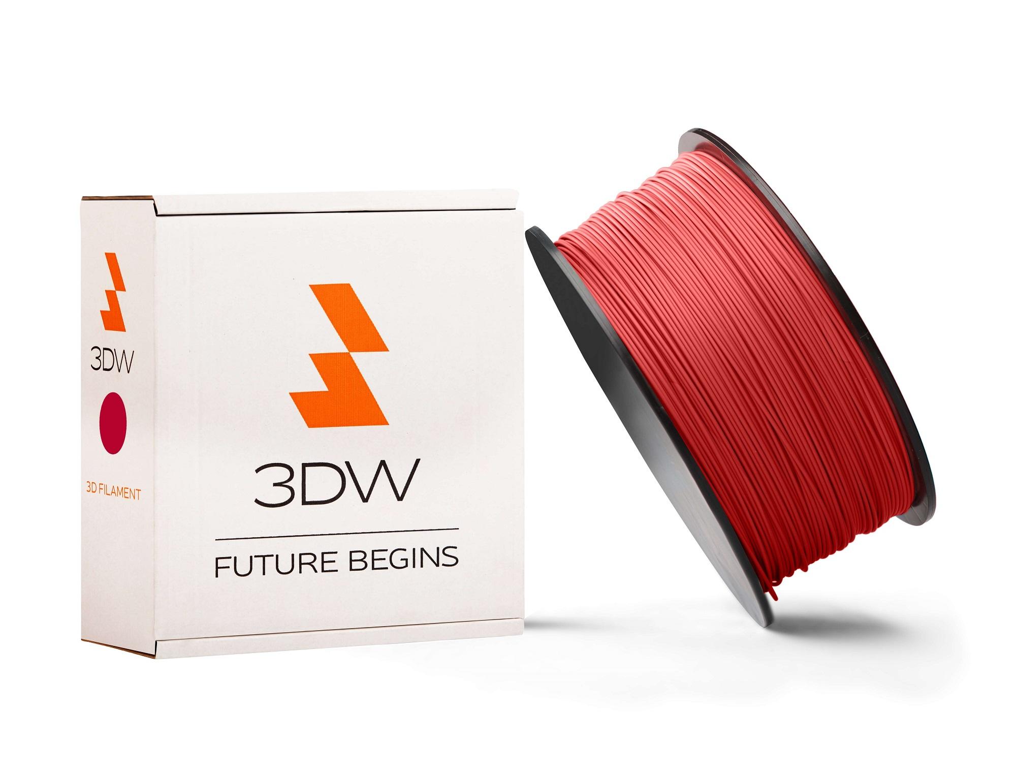 3DW - ABS filament 1,75mm červená, 0,5 kg,tisk 220-250°C