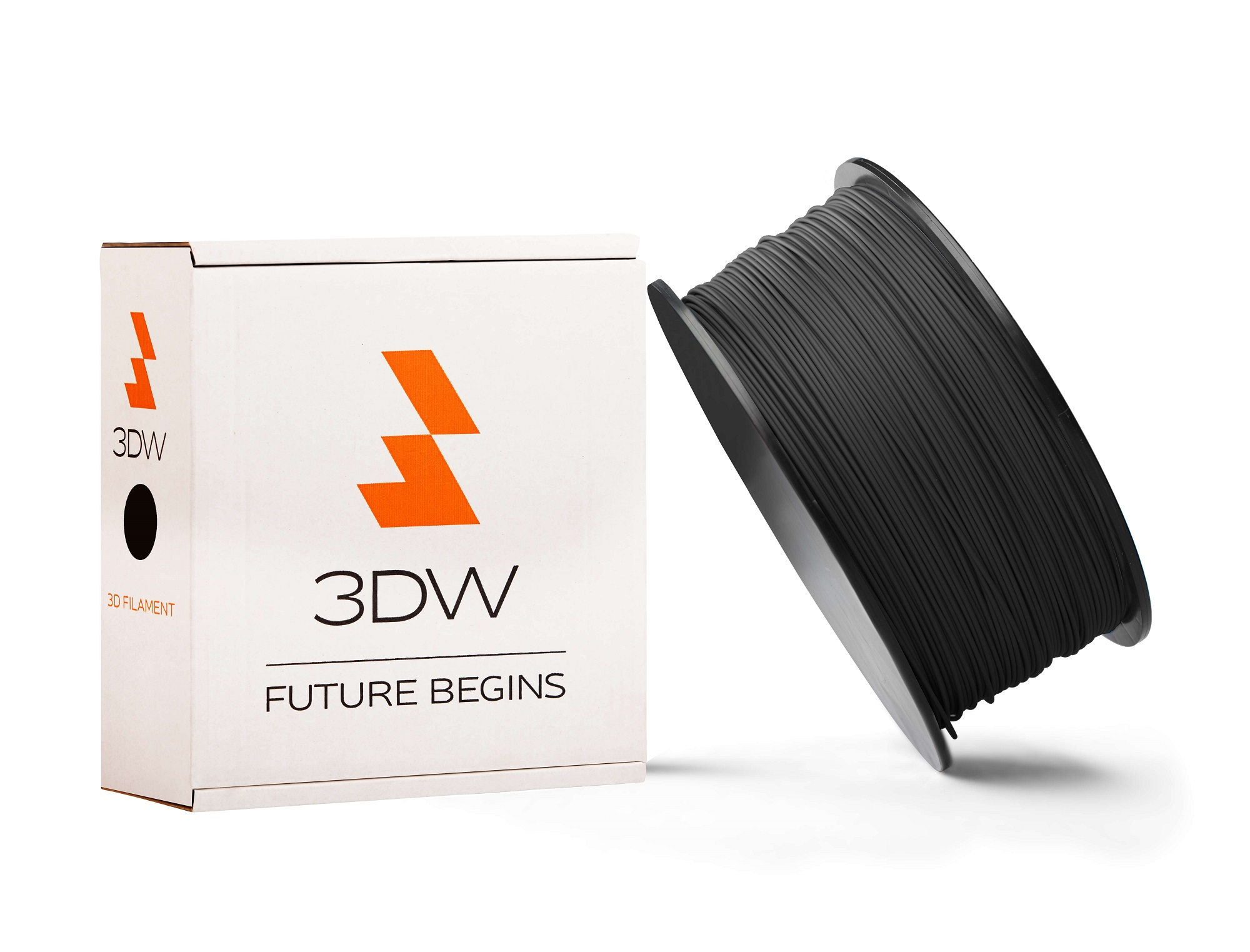 3DW - ABS filament 1,75mm černá, 0,5 kg, tisk 220-250°C