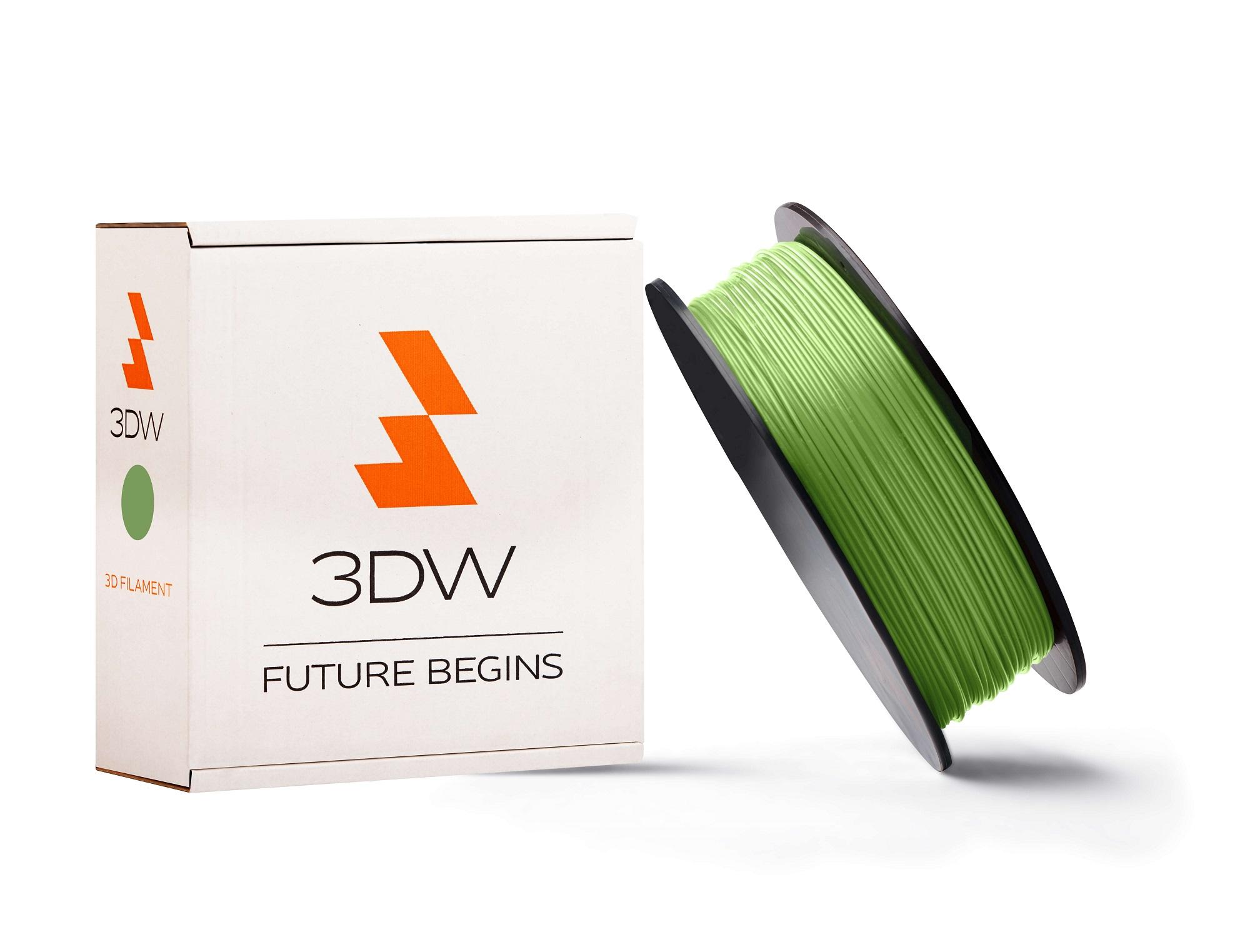 3DW - ABS filament 1,75mm fluozelen, 0,5kg,tisk220-250°C