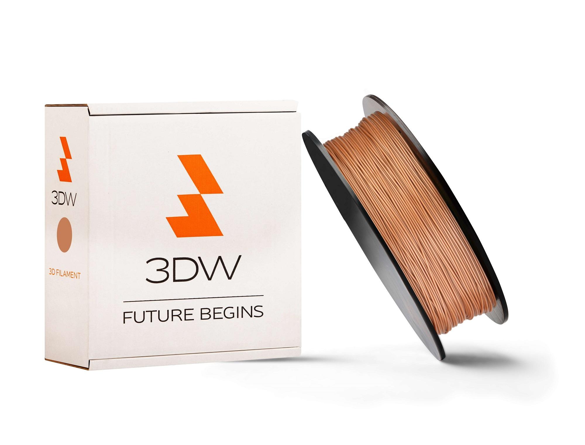 3DW - ABS filament 1,75mm bronzová, 0,5kg,tisk 220-250°C