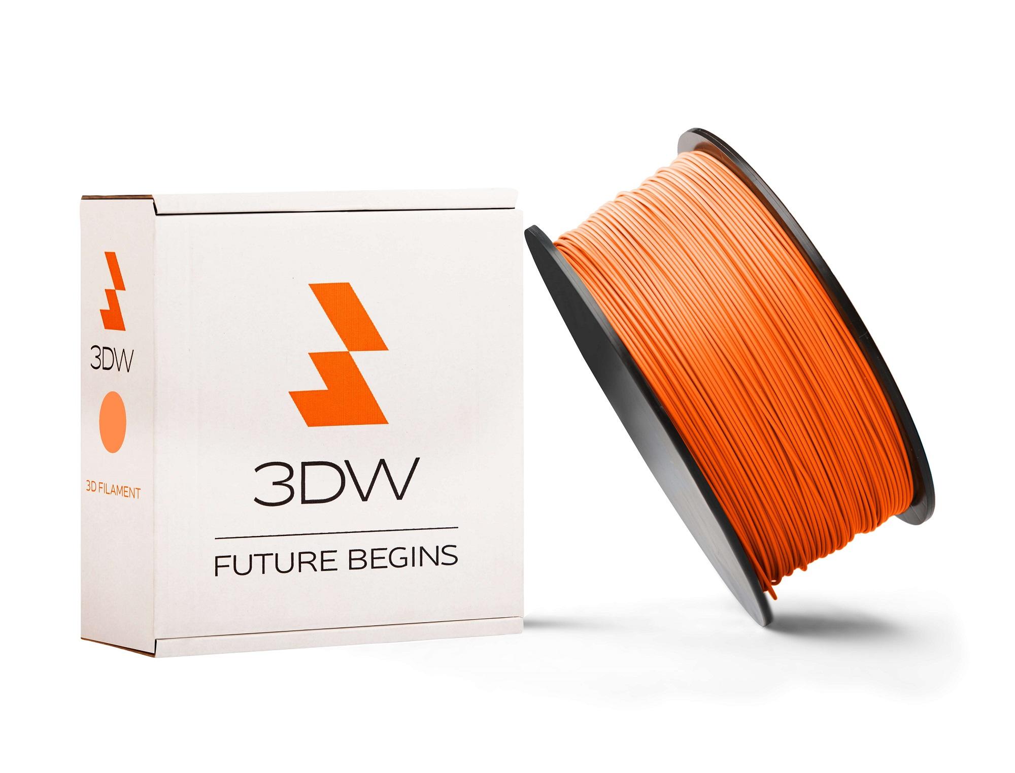 3DW - PLA filament 1,75mm oranžová, 1kg, tisk 190-210°C