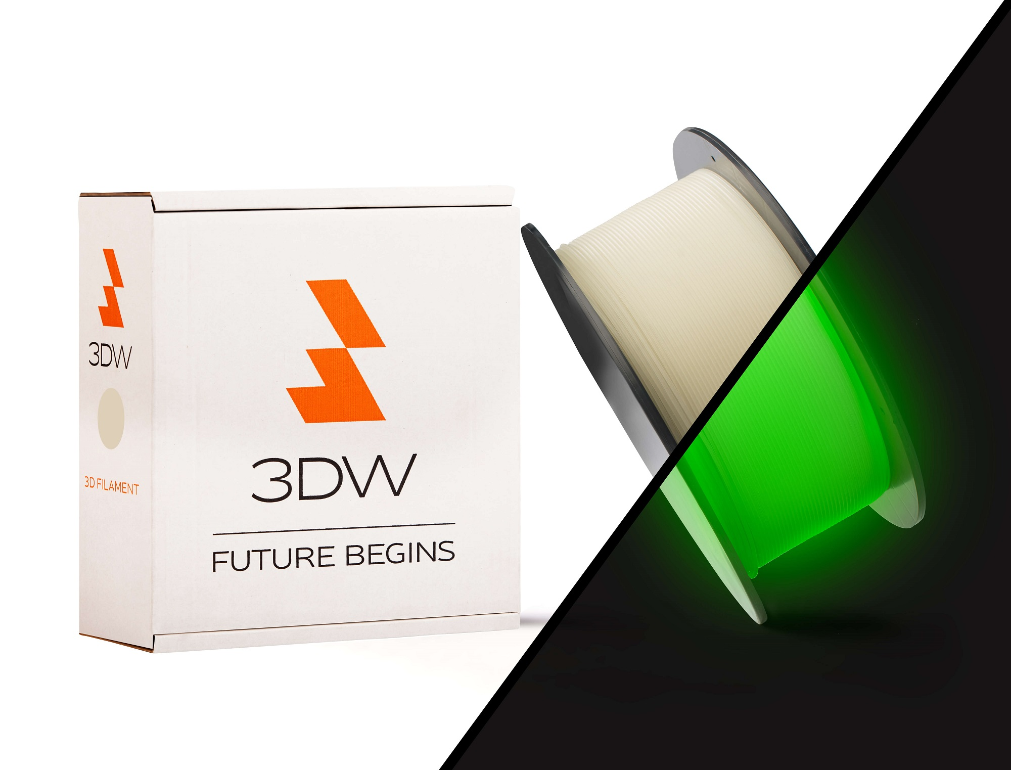 3DW - PLA filament 1,75mm svítící, 1kg, tisk 190-210°C