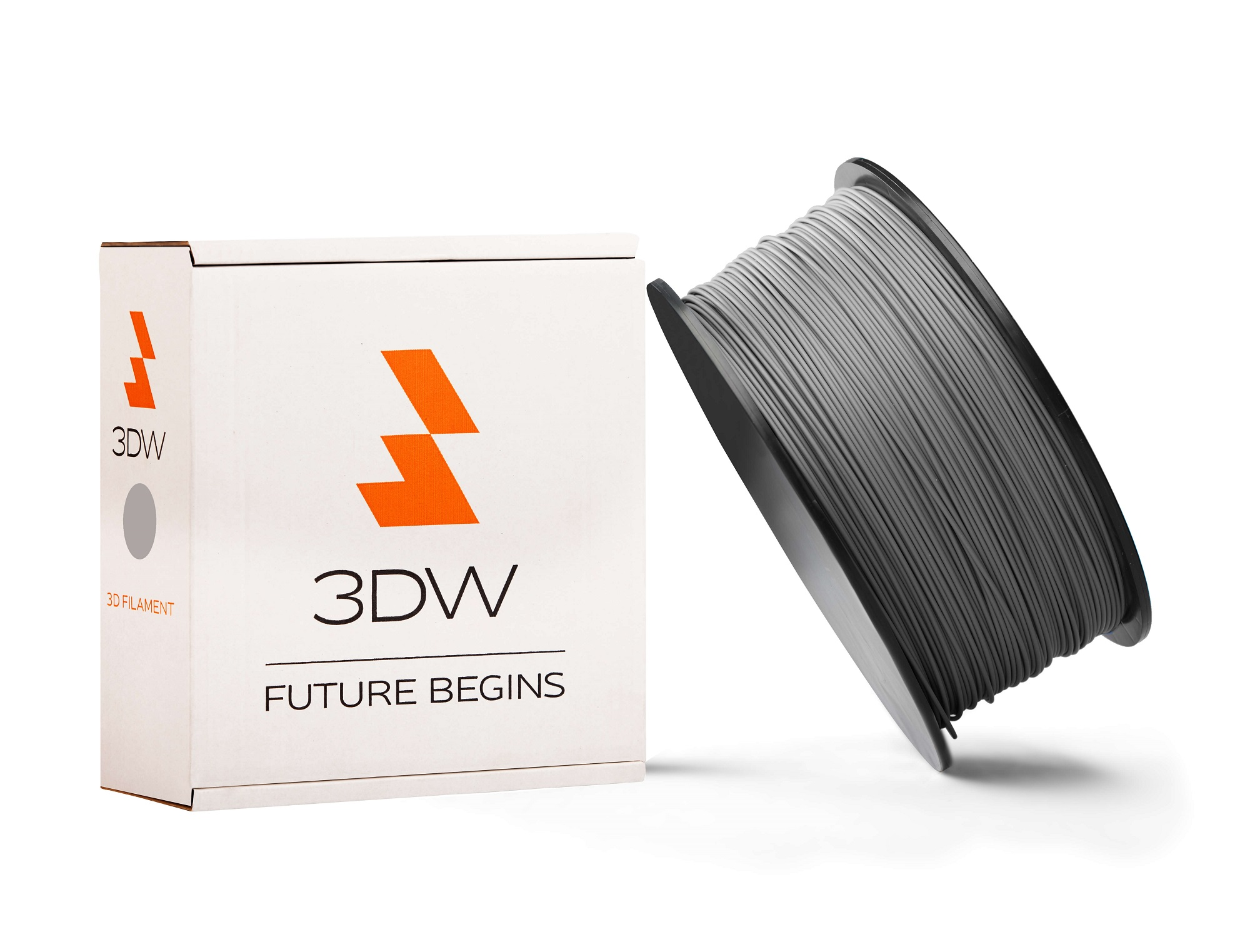 3DW - PLA filament 1,75mm šedá, 1kg, tisk 190-210°C